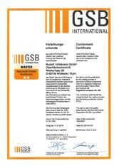GSB Iternational Master Approved Coated Aluminium